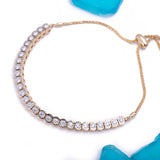 Adjustable Bolo Diamond Tennis Bracelet in 18k Yellow Gold - Artisan Carat