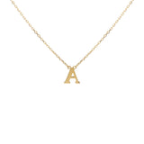 My Initials Name Choker Pendant Necklace in 14k Yellow Gold - Artisan Carat