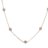 Diamonds by the Yard CZ Necklace in 14k Yellow Gold - Artisan Carat