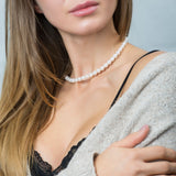 Small Strand Akoya Pearl Necklace with 14k Yellow Gold Clasp - Artisan Carat