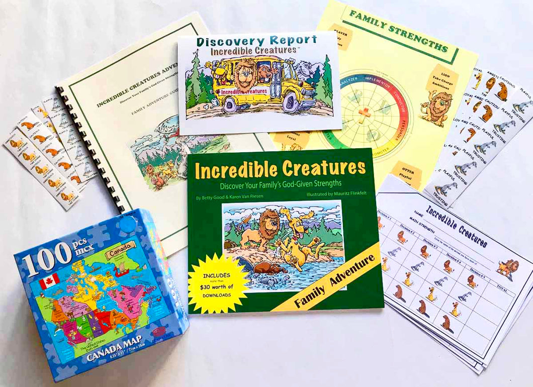 Family adventure kit | Incredible Creatures