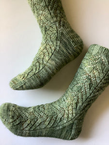 Curling Fern Socks