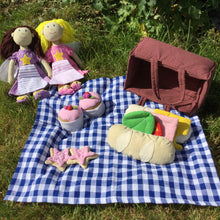 Load image into Gallery viewer, Fair Trade picnic play set in use outdoors
