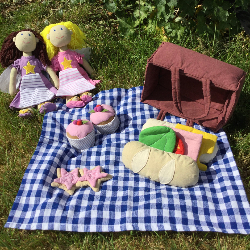 Fair Trade picnic play set in use outdoors