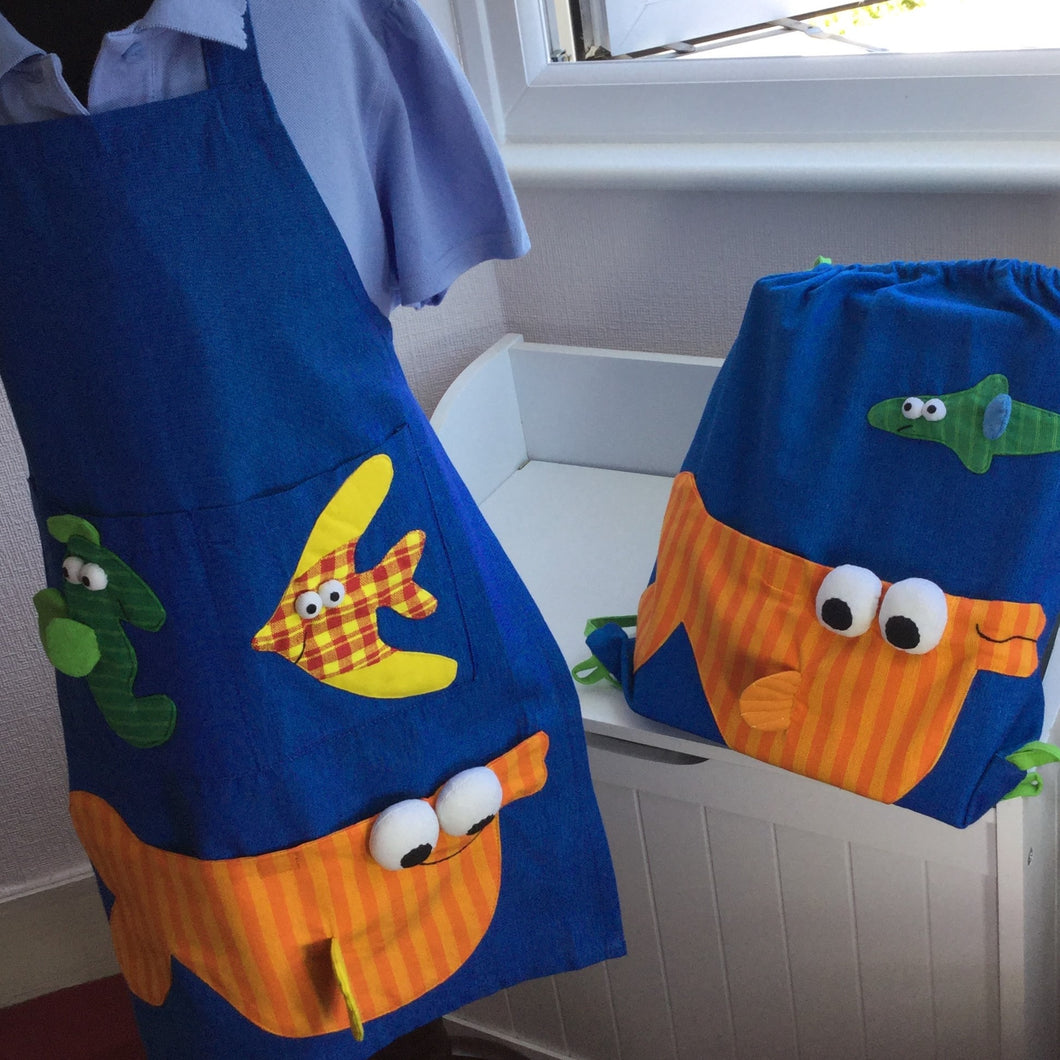 Funky Fish Apron and Bag Gift Set
