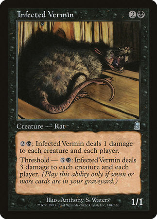 Infected Vermin [Odyssey] | Tabletop Cards