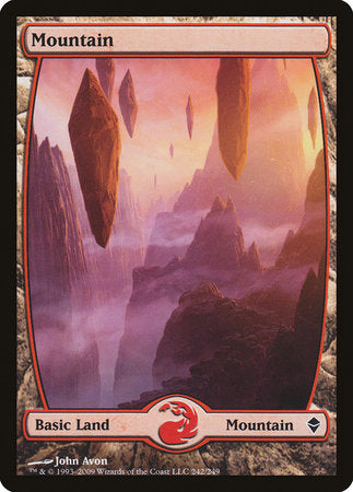 Mountain (242) - Full Art [Zendikar] | Tabletop Cards
