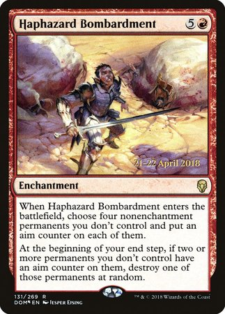 Haphazard Bombardment [Dominaria Promos] | Tabletop Cards