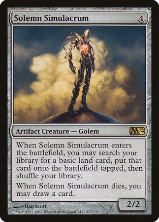 Solemn Simulacrum [Magic 2012] | Tabletop Cards