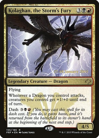 Kolaghan, the Storm's Fury [Fate Reforged Promos] | Tabletop Cards