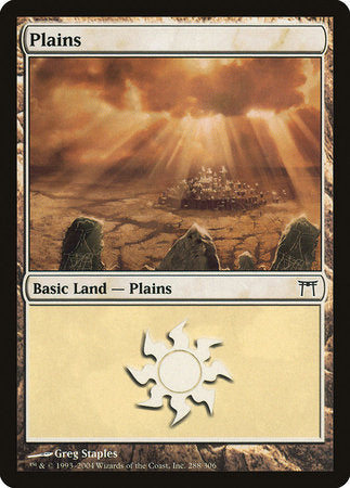 Plains (288) [Champions of Kamigawa] | Tabletop Cards