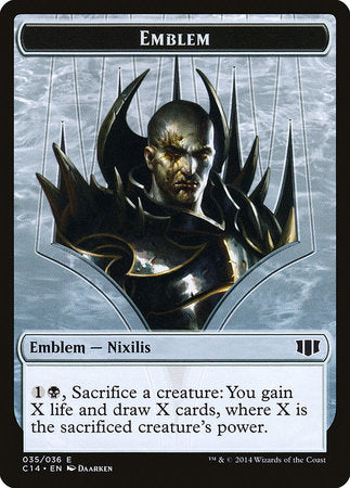 Emblem - Ob Nixilis of the Black Oath // Zombie Token [Commander 2014 Tokens] | Tabletop Cards