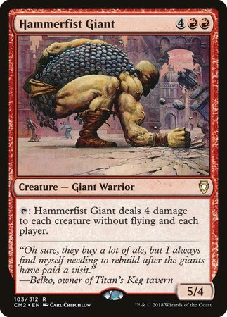 Hammerfist Giant [Commander Anthology Volume II] | Tabletop Cards