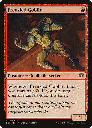 Frenzied Goblin [Duel Decks: Speed vs. Cunning] | Tabletop Cards