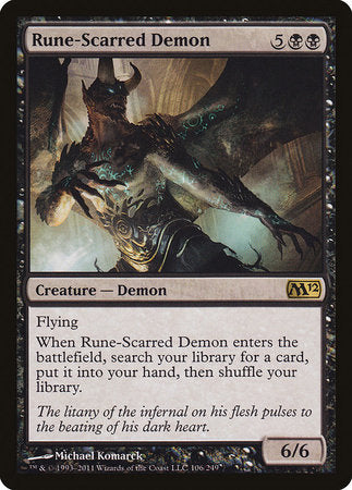Rune-Scarred Demon [Magic 2012] | Tabletop Cards