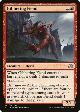 Gibbering Fiend [Shadows over Innistrad] | Tabletop Cards