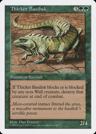 Thicket Basilisk [Fifth Edition] | Tabletop Cards