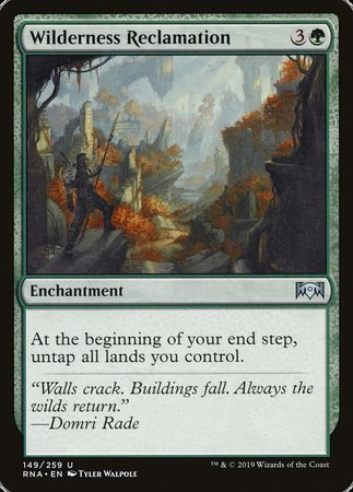 Wilderness Reclamation [Ravnica Allegiance] | Tabletop Cards