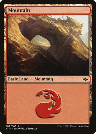 Mountain (182) [Fate Reforged] | Tabletop Cards