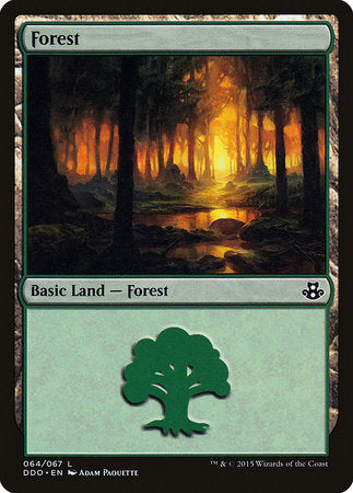 Forest (64) [Duel Decks: Elspeth vs. Kiora] | Tabletop Cards