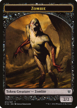 Zombie // Worm Double-sided Token [Commander 2016 Tokens] | Tabletop Cards