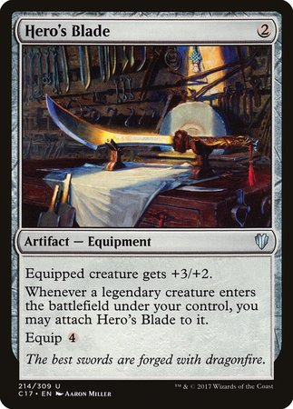 Hero's Blade [Commander 2017] | Tabletop Cards