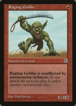 Raging Goblin [Portal] | Tabletop Cards
