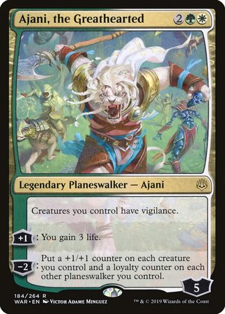 Ajani, the Greathearted [War of the Spark] | Tabletop Cards