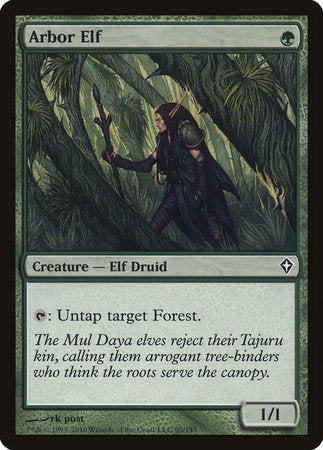 Arbor Elf [Worldwake] | Tabletop Cards