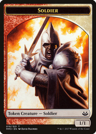 Soldier Token (Red/White) [Modern Masters 2017 Tokens] | Tabletop Cards