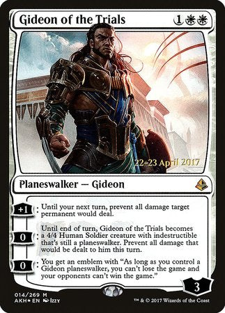 Gideon of the Trials [Amonkhet Promos] | Tabletop Cards