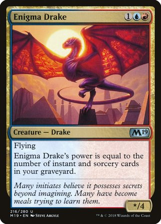 Enigma Drake [Core Set 2019] | Tabletop Cards