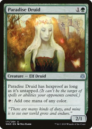 Paradise Druid [War of the Spark] | Tabletop Cards