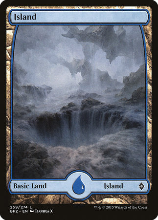 Island (259) - Full Art [Battle for Zendikar] | Tabletop Cards