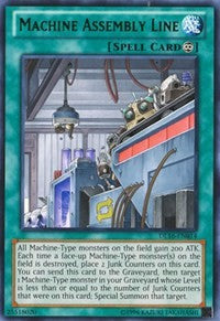 Machine Assembly Line (Green) [DL16-EN014] Rare | Tabletop Cards
