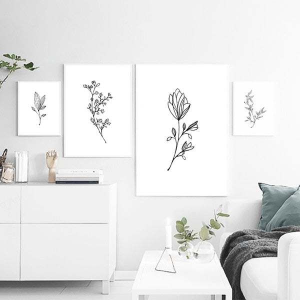 Botanical Sketches - 4 pieces