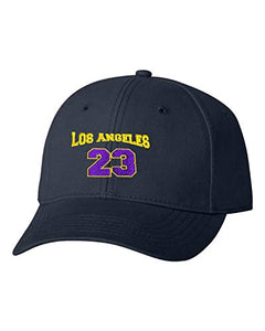 Go All Out Adult Los Angeles 23 Embroidered Dad Hat Structured Cap