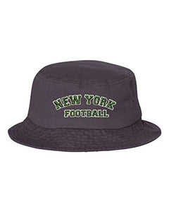 Adult New York Football Embroidered Bucket Cap Dad Hat