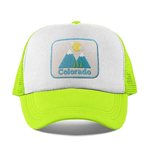 Colorado Toddler Hat Ages 1-11 yrs - Mountain Infant HatBaby HatKids Colorado Trucker Hat