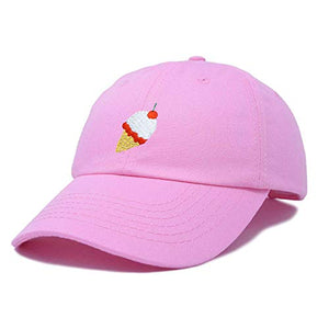 DALIX Ice Cream Dad Hat Cotton Twill Baseball Cap Embroidered Hats