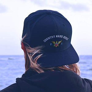 Custom Baseball Hat Virgin Island Flag Seal Embroidery Country Structured Cap