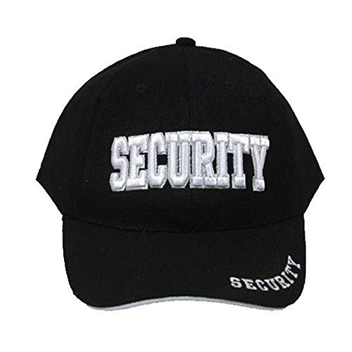 XtraFly Apparel Men's Security Guard Officer Adjustable Hat Cap 3D Embroidered Black