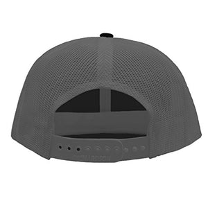 Custom Combat Infantry-Man Badge Unisex Adult Snaps Cotton Richardson Unstructured Front and Mesh Back Cap Adjustable Hat BlackCharcoal