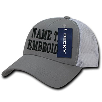 Caprobot iD Custom Embroidery Hat Text Personalized Golf Cap Mesh Trucker Snapback