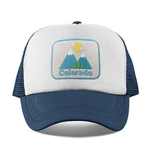 Load image into Gallery viewer, Colorado Toddler Hat Ages 1-11 yrs - Mountain Infant HatBaby HatKids Colorado Trucker Hat