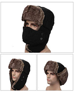 Sythyee Unisex Winter Trooper Trapper Hunting HatWindproof Warm Mask Ear Flaps for Outdoor Sports Walking Skiing