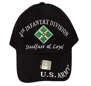 Moon US Army Fourth 4TH Infantry Division ID Steadfast Loyal Embroidered Hat Veteran Premium Quality Dad Hat For Men Women