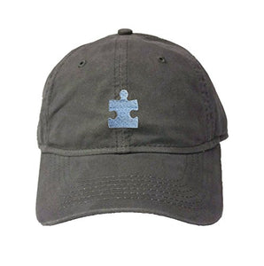 Go All Out Adult Puzzle Piece Autism Embroidered Deluxe Dad Hat