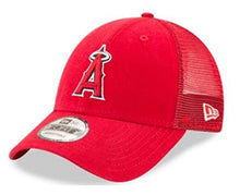 Load image into Gallery viewer, New Era MLB Anaheim Angels Baseball Hat Cap 940 Trucker Snapback 11591216 Red