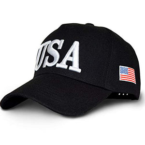 Joinling Trump 2020 President Election Cap Keep America Great 3D Embroidery Adjustable Baseball Hat with USA Flag Men Women